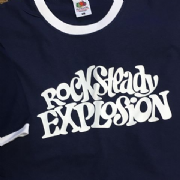 ROCKSTEADY EXPLOSION RINGER T-SHIRT NAVY & WHITE